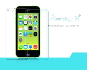 Nillkin Anti-Explosion Tempered Glass Front & Back Screen Protector Film for iPhone 5c (Suite Edition)