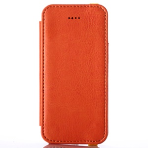 Orange KLD My Love Series PU Leather Protective Case for iPhone 5s 5