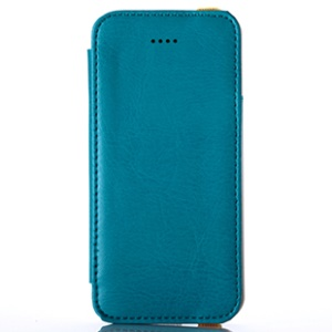 Blue for iPhone 5s 5 KLD My Love Series PU Leather Case w/ Card Slot