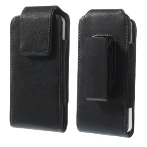 Magnetic Vertical Leather Pouch Case with Belt Clip for iPhone SE 5s 5