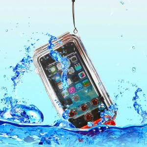 IPX8 Waterproof Photo Housing 40m/130ft Rated Underwater Cover for iPhone SE 5s 5 5c - Red