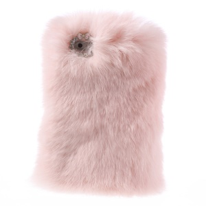 Pink Stylish Genuine Rabbit Fur Hard Case for iPhone SE 5s 5