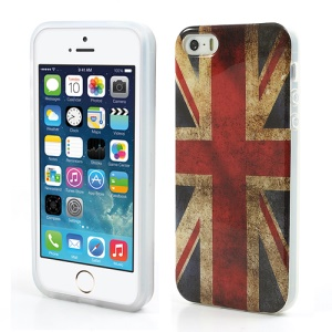 For iPhone SE 5s 5 Retro Union Jack Flag IMD Gel TPU Shell