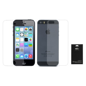 Clear Front & Back Screen Protective Film for iPhone 5S (with Package)