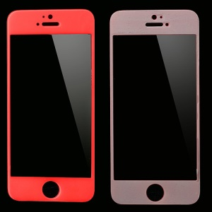 GLASTO 0.3mm Tempered Glass Screen Guard Film for iPhone SE 5s 5c 5 - Hot Pink