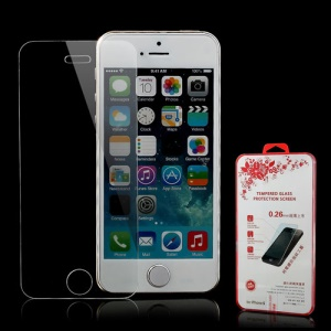 Explosion-proof Tempered Glass Screen Protecter for iPhone SE 5s 5 (with Package)