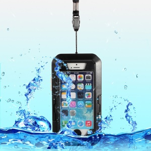 360 Degree Rotation Waterproof Shockproof Bicycle Mount Holder Case for iPhone SE 5s 5 - Black