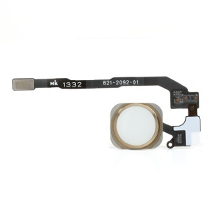 Champagne Gold Color for iPhone 5s Home Button with PCB Membrane Flex Cable (OEM)