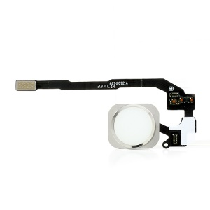 White Home Button with PCB Membrane Flex Cable Part for iPhone 5s (OEM)