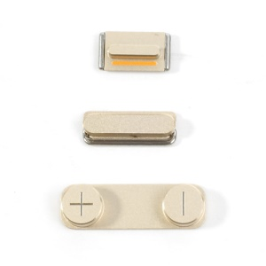 Champagne Gold Color for iPhone 5s 3 in 1 OEM Button Key Kit Set (Power/ Volume/ Mute)