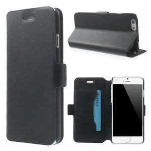 Black Doormoon Genuine Leather Stand Case for iPhone 6s / 6 4.7 inch