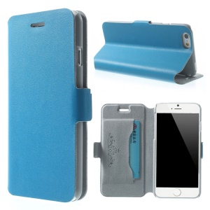Blue Doormoon Genuine Leather Cover w/ Stand for iPhone 6s / 6 4.7 inch