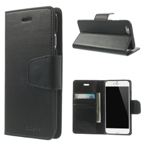 MERCURY GOOSPERY Sonata Diary Leather Stand Case for iPhone 6s 6 4.7 inch - Black
