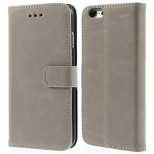 Retro Simulation Leather Wallet Stand Cover for iPhone 6s / 6 4.7 inch - Grey