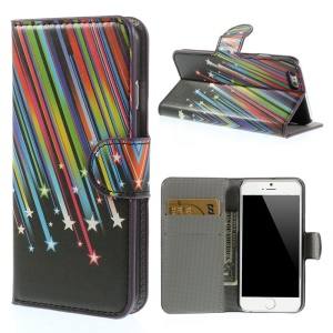 Meteor Shower Leather Wallet Stand Case for iPhone 6 4.7 inch