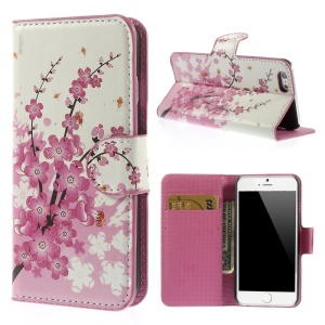 Plum Blossom Folio Leather Stand Wallet Shell for iPhone 6 4.7 inch