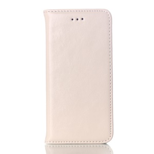 Crazy Horse Genuine Leather Magnetic Case Stand for iPhone 6s / 6 4.7 inch - White
