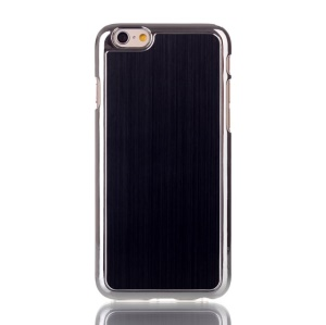 Black Brushed Aluminum Skin Electroplated Hard Case for iPhone 6s 6 4.7 inch