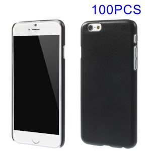 100PCS DIY Style Frosted Hard Plastic Case for iPhone 6s 6 4.7 inch - Black
