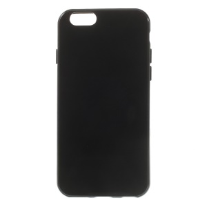 Glossy Jelly TPU Gel Case for iPhone 6s / 6 4.7 inch - Solid Black