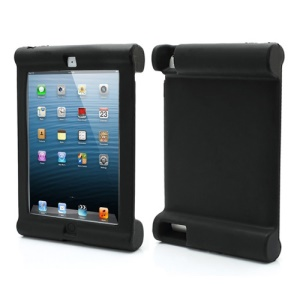 Impact & Shock Resistant Easy Hold Soft Silicone Case for New iPad 2nd 3rd 4th Gen - Black