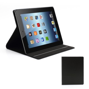 Doormoon Genuine Leather Stand Case Cover for iPad 4 / 3 / 2 - Black