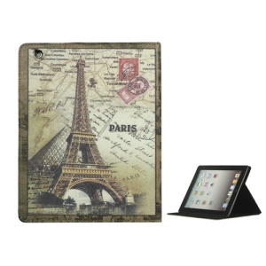 Retro Eiffel Tower Stand Leather Smart Cover for iPad 2nd 3rd 4th Gen