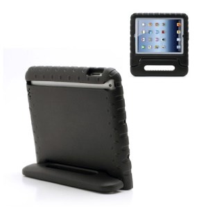 Portable Kids EVA Foam Protective Cover with Handle & Stand for iPad 2 / 3 / 4 - Black