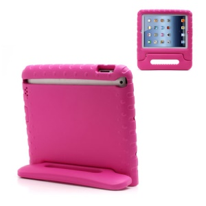 Portable Kids Eco-friendly EVA Foam Case with Handle & Stand for iPad 2 / 3 / 4 - Rose