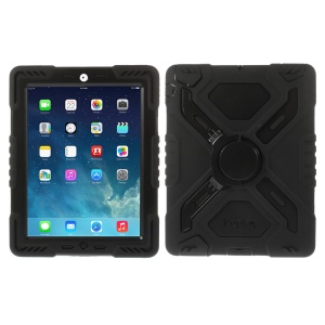 Pepkoo Spider Series para iPad 2 3 4 Silicone PC Extreme Heavy Duty Case - negro