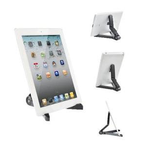 Universal 7-10 inch Portable PC Fold-Up Stand for Apple iPad/ Galaxy Tab/ Kindle Fire - Black