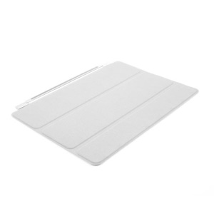 White for iPad Air Single Tri-fold Smart Front Leather Cover w/ Stand
