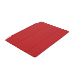 Red for iPad Air Single Tri-fold Front Smart Leather Case w/ Stand