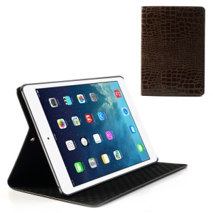 Brown for iPad Air Crocodile Leather Stand Case