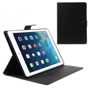 Mercury Goospery Leder Fancy Diary Wallet Flip Case Cover für iPad Air 5 - Schwarz