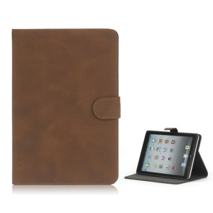 Antique Grain Magnetic Stand PU Leather smart Cover Case for iPad Mini - Brown