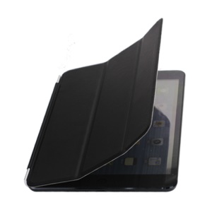 For iPad Mini / iPad Mini 2 Single Front Wake Sleep Hardware Leather Smart Cover - Black