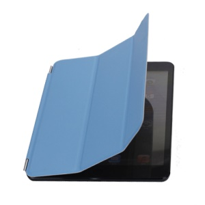Single Front Wake Sleep Hardware Leather Smart Cover for iPad Mini / iPad Mini 2 - Blue