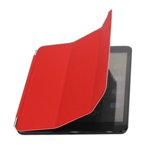 Wake up / Sleep Single Front Leather Smart Cover for iPad Mini / iPad Mini 2 - Red