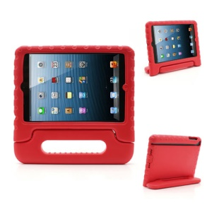 Portable Kids EVA Foam Protective Cover with Handle & Stand for iPad Mini - Red