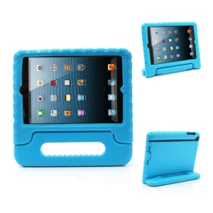 Portable Kids EVA Foam Protective Cover with Handle & Stand for iPad Mini - Blue