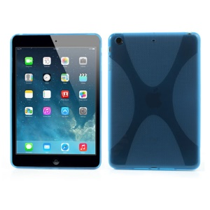 Skidproof X Shape Protective TPU Case for iPad Mini / iPad Mini with Retina display - Blue