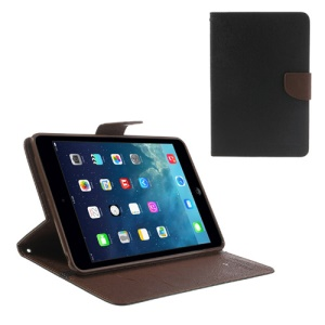 Mercury GOOSPERY Fancy Diary Wallet Leather Case for iPad mini / iPad mini 2 with Retina display - Brown / Black