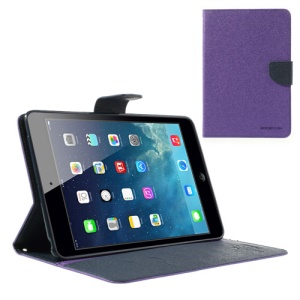 Goospery Fancy Diary Wallet Leather Cover for iPad mini / iPad mini 2 with Retina display - Dark Blue / Purple
