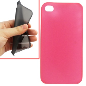 0.2mm Colorful Ultrathin Matte PC Shell Case for iPhone 4 - Transparent