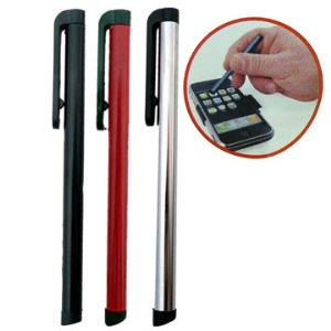 Touch Stylus Pen for iPhone 4 ( with clip);Black