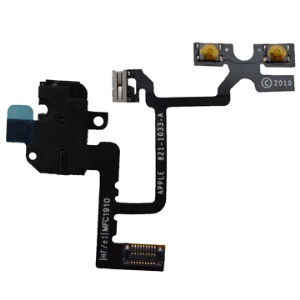 Black Audio Earphone Jack Flex Circuit Cable for iPhone 4 4G