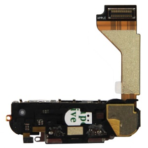 OEM Charging Port Assembly Part with Home Button Flex Cable for iPhone 4G