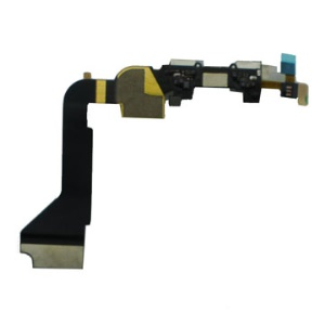 Dock Connector Circuit Charging Port Flex Cable for iPhone 4 4G OEM - White
