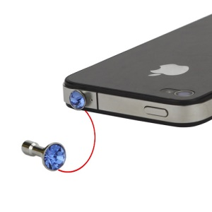 Crystal Earphone Jack Anti-dust Plug Stopper Cap for iPhone 5 4 4S